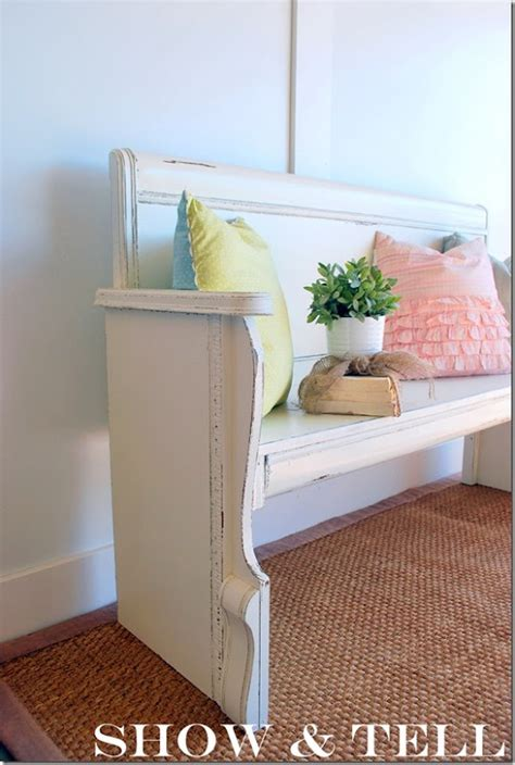 Diy Headboard Footboard by Repurposed Headboard Footboard Craft Ideas Headboard