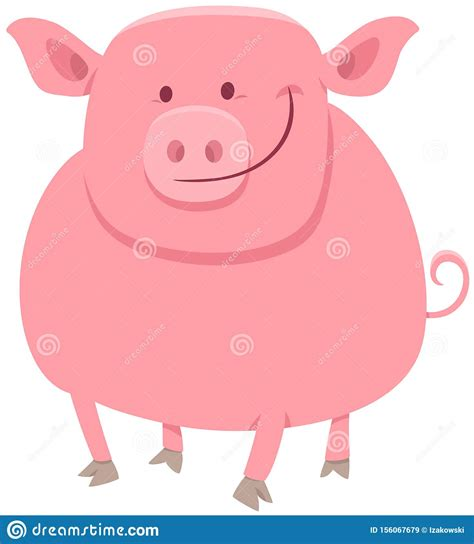 Find gifs with the latest and newest hashtags! Pig Animal Character Cartoon Illustration Stock Vector ...