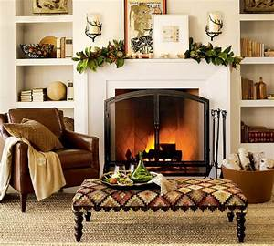 Fireplace mantel decor ideas for decorating for thanksgiving for Fireplace mantel decorating ideas for fall
