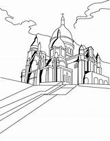 Coloring Cathedral Getcolorings Basilica sketch template