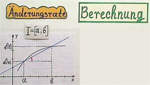 Steigung Berechnen Formel : video nderungsrate in mathe berechnen so klappt 39 s f r funktionen ~ Themetempest.com Abrechnung