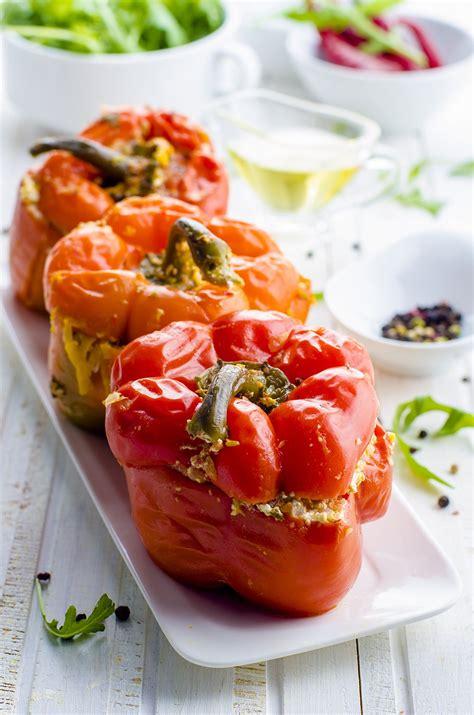 recette poivrons farcis à la grecque