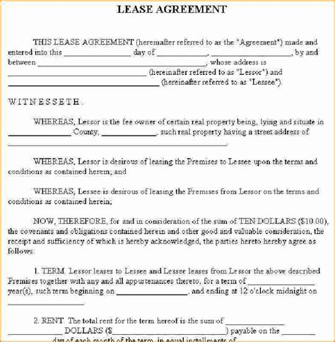 lease a 4 home rental lease agreement printable receipt
