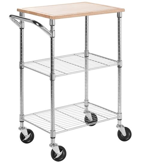 rolling kitchen island cart rolling kitchen cart chrome in kitchen island carts