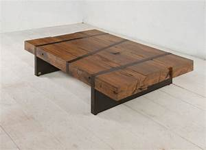 digby beam table contemporary coffee tables new york With wood beam coffee table