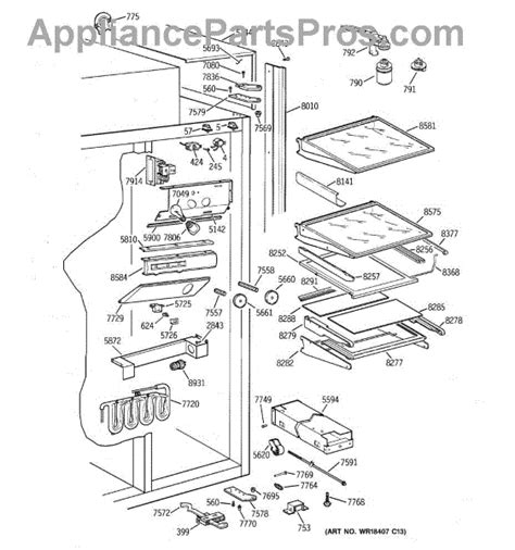 parts  ge ziswdca fresh food section parts appliancepartsproscom