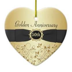 fiftieth wedding anniversary 50th wedding anniversary ornament zazzle