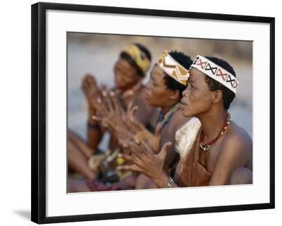 'Kung Women Sing and Clap their Hands, They are San Hunter ...