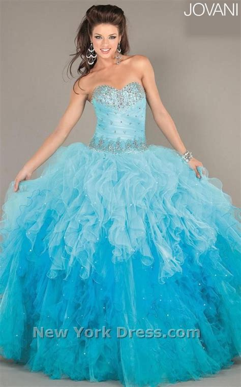 light blue 15 dresses light blue and turquoise ombre quinceanera dress 15