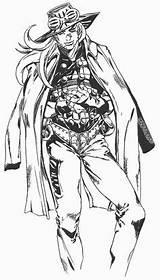 Bizarre Adventure Gyro Steel Jojo Zeppeli Run Ball Anime Araki Manga Hirohiko Pose Bizzare Vocaloid Part7 Piece Zoro Jojos Lineart sketch template