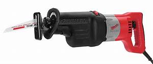 Milwaukee Corded Reciprocating Saw  13 0 Amps  0 To 2800 Strokes Per Minute  8 Ft  Cord  Orbital