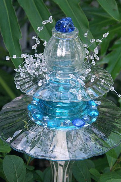 Recycled Glass Garden Art Ideas