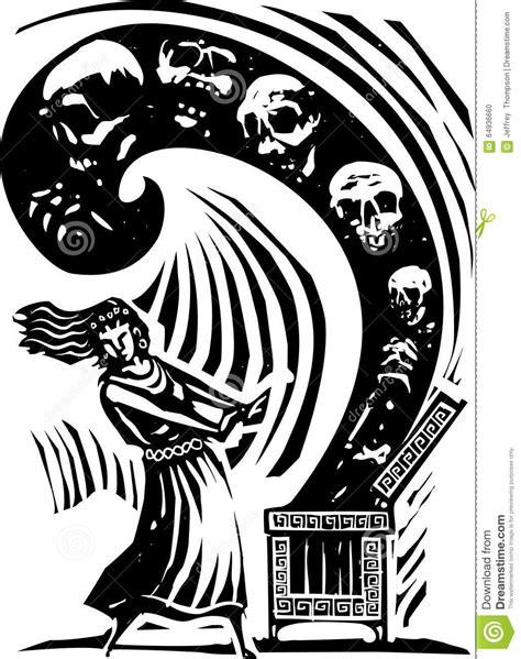 mito vaso di pandora vaso di pandora illustrazione vettoriale illustrazione di