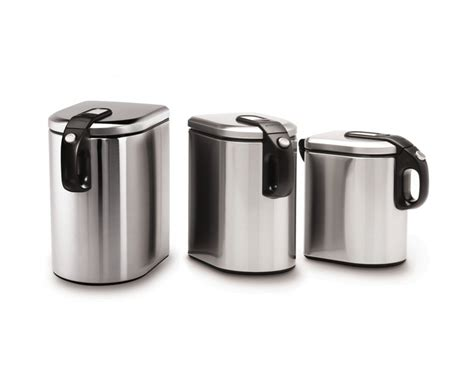 stainless steel kitchen canister sets stainless steel canister sets kitchen jennies
