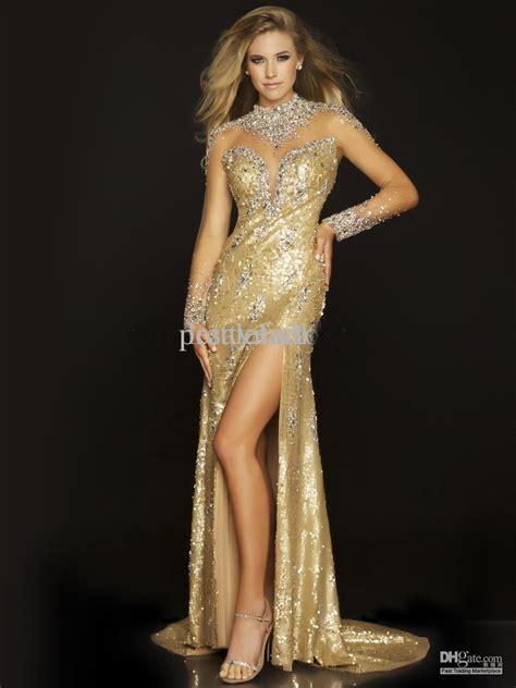 hot vintage  gatsby style mermaid prom dresses high