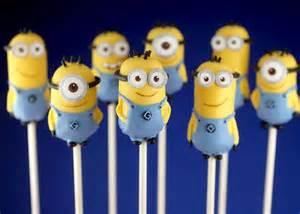 ミニオンのケーキポップ☆可愛い☆ : 映画『怪盗グルーのミニオン危機一発』人気者のミニオンのキャラ弁の作り方と画像の