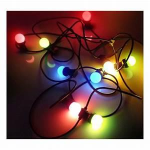 Guirlande Lumineuse Ampoule : guirlande guinguette ampoule led b22 multicolore professionnelle ~ Teatrodelosmanantiales.com Idées de Décoration