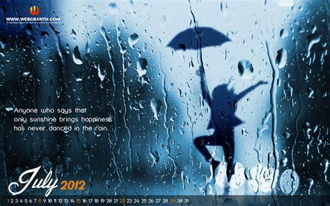 calendar wallpaper july  rain wallpaper calendar