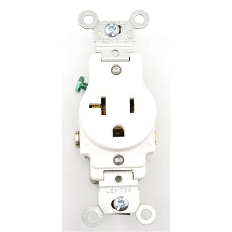 leviton  amp commercial grade grounding single outlet
