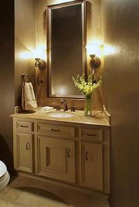 Design, In, Wood, Bathroom, Mirrors, And, Lighting