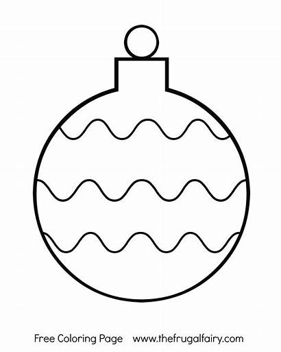 Coloring Ornament Christmas Pages Printable Bulb Ornaments