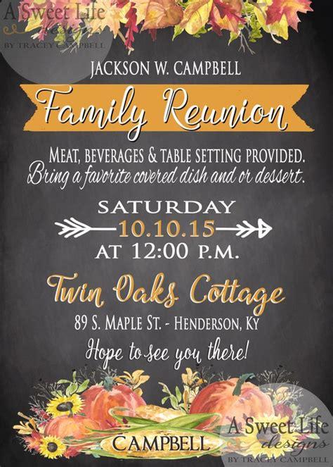 fall family reunion invitation thanksgiving