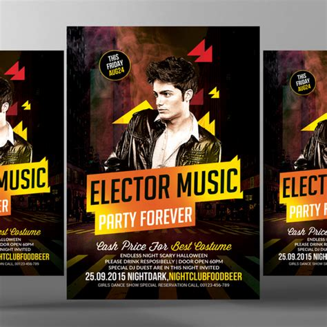 Concert Banner Template Psd Free by Electro Music Psd Template For Free Download On Pngtree