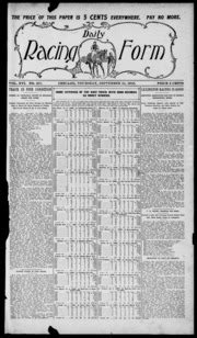 daily racing form n thursday september 1910 daily racing form free download borrow