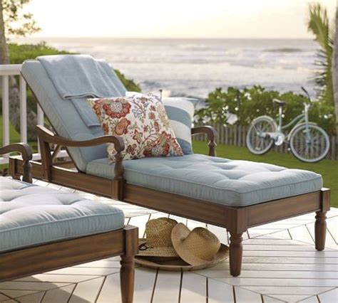 Pottery Barn Chaise Lounge by Faraday Single Chaise Traditional Outdoor Chaise