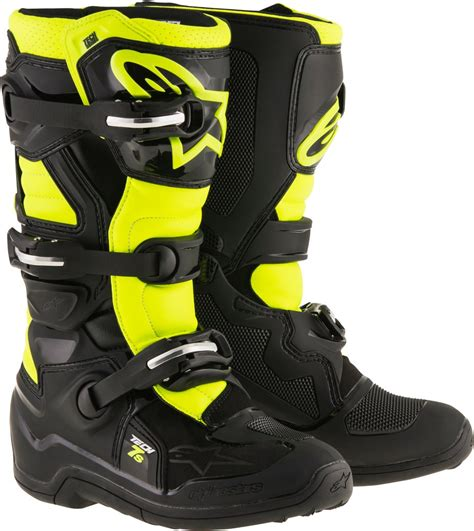 boys motorcycle riding boots alpinestars youth boys tech 7s mx motocross offroad riding
