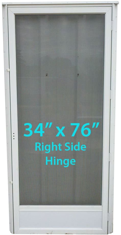 mobile home full view storm door  rh white  screen