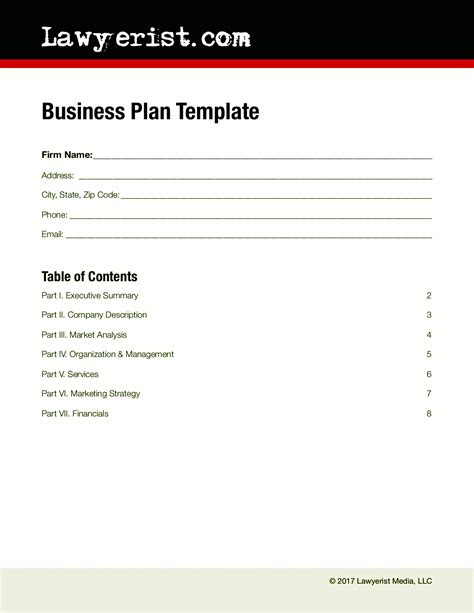 business strategy template business plan template