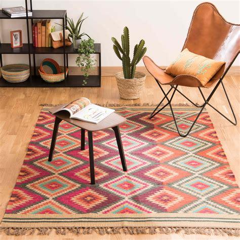 maison du monde tappeti tapis tress 233 en multicolore 140 x 200 cm acapulco
