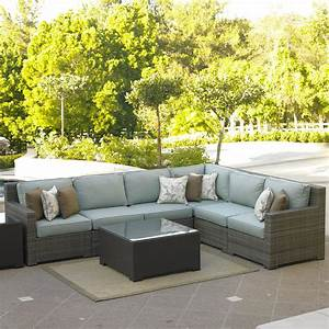 northcape international malibu right arm facing six piece With malibu outdoor sectional sofa