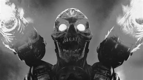 doom game video games monochrome skull doom  hd