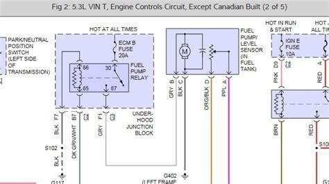 Chevrolet Silverado Complete Fuel Pump Diagram Can