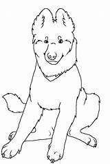 Shepherd German Coloring Pages Puppy Dog Lineart Printable Wolf Sitting Cute Puppies Kid Shepherds Dogs Sheet Baby Deviantart Template sketch template