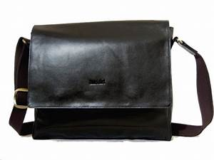Sac Ordinateur Cuir Homme : sac besace en cuir noir ~ Nature-et-papiers.com Idées de Décoration