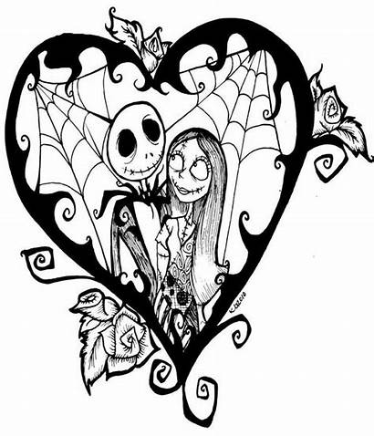 Coloring Pages Halloween Christmas Nightmare Adults Before