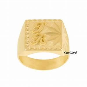 Chevaliere Homme Or 24 Carats : chevali re homme or 18 carats rectangle avec initiales ~ Melissatoandfro.com Idées de Décoration