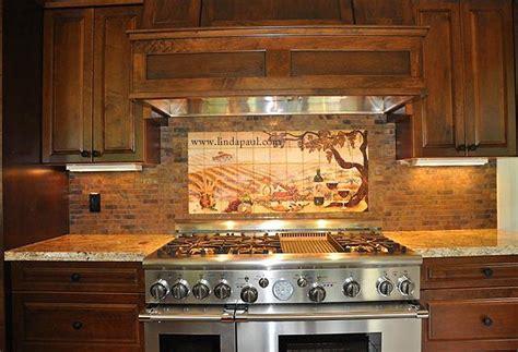 kitchen tile mural copper color or copper backsplash installation pictures 3268