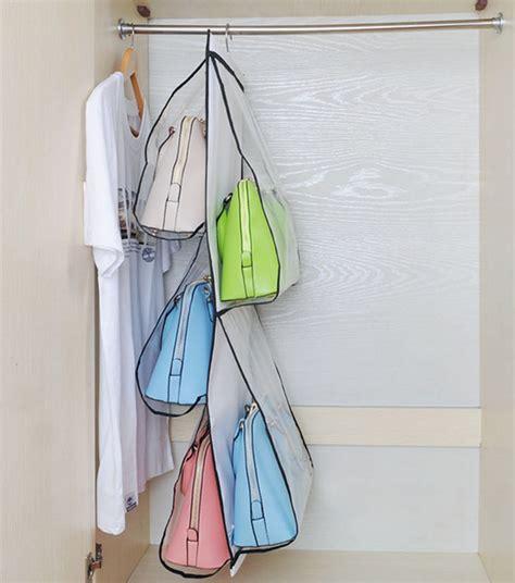 Handbag Hanger For Closet by Hanging Handbag Organizer Closet Storage Purse Hanger Rack