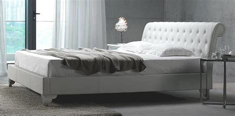 san remo white leather bed modern bedroom furniture