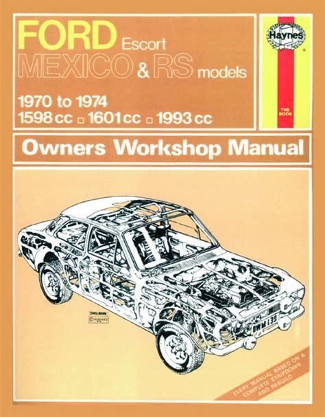 haynes manual ford escort mk mexico rs  rs