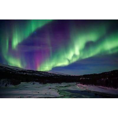aurora borealis northern lights sky star mountain night