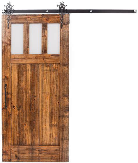interior sliding craftsman barn door rustica hardware