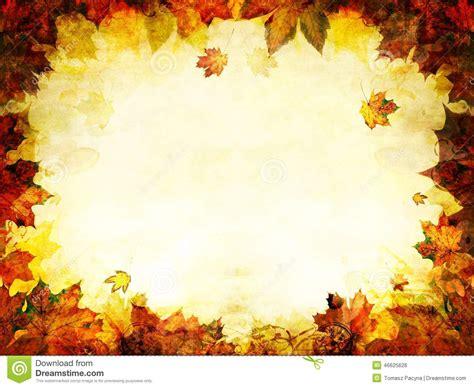 fondo de oro del marco de las hojas de otono foto de
