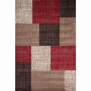 Mondo rouge tapis de salon 120x170 cm achat vente for Tapis rouge avec canapé 145 cm
