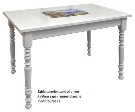 table de cuisine carrel馥 table de cuisine carrelee 1 table rectangulaire carrel233e avec 2 allonges made in digpres