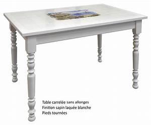 Table De Cuisine Rectangulaire : table de cuisine carrelee 1 table rectangulaire ~ Teatrodelosmanantiales.com Idées de Décoration